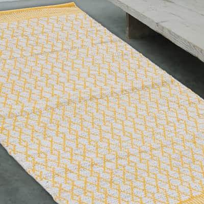 Tappeto Cotone bay giallo 140 x 200 cm