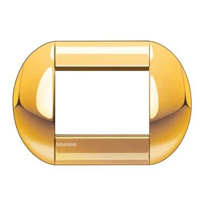 Placca 3 moduli BTicino Livinglight oro
