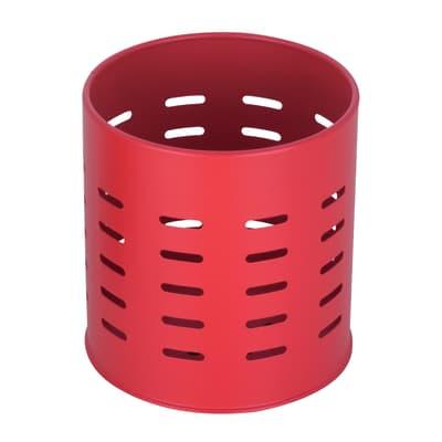 Porta posate e mestoli rosso H 13,1 cm