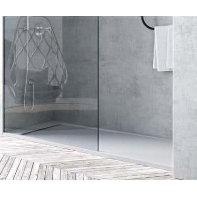 Piatto doccia resina river 120 x 70 cm bianco prezzi e for Compensato marino leroy merlin