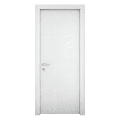 Porta da interno battente Urban bianco 60 x H 210 cm sx