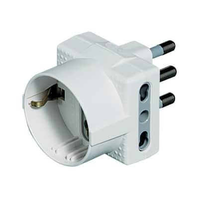 Adattatore S3611DE multiplo 16A, BTicino bianco