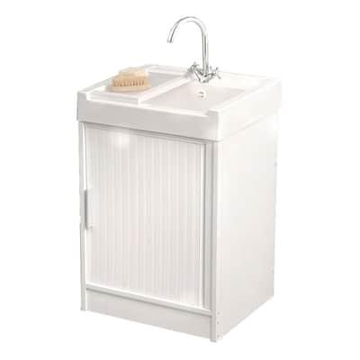 Mobile lavatoio Ice bianco L 59,2 x P  62,4 x H 84 cm