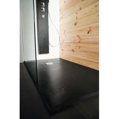 Piatto doccia resina Pizarra 150 x 90 cm nero