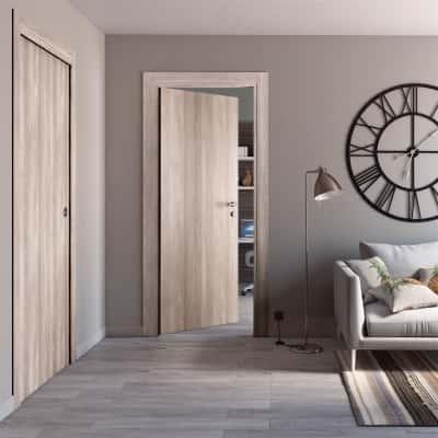 Porta da interno battente Plank 80 x H 210 cm reversibile