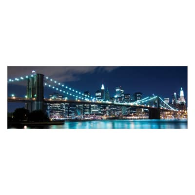 Quadro su tela blu lights 40x125 prezzi e offerte online for Leroy merlin quadri tela