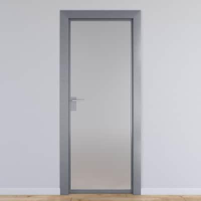 porta per ufficio battente office vetro temperato bianco