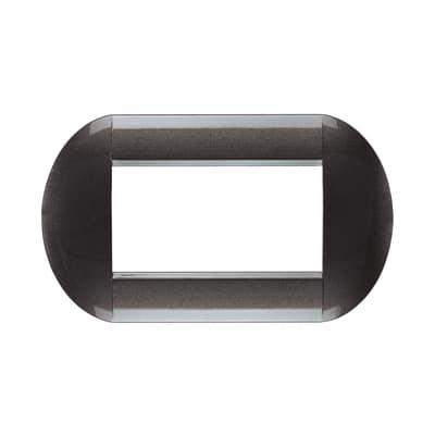 Placca 4 moduli BTicino Livinglight acciao