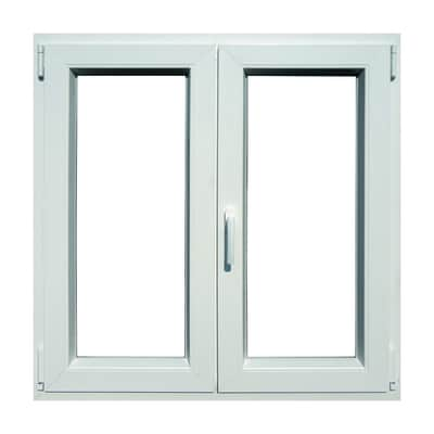 Finestra PVC bianco L 120 x H 120 cm