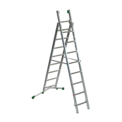 Scala sfilo alluminio Facal 8+9 gradini, per lavori fino a 5,7 m