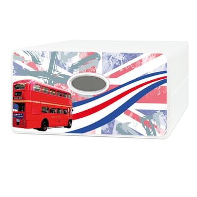 Cassettiera Qbox Bianco/Grigio/Nero