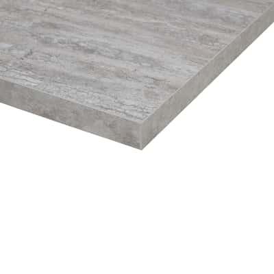 Piano cucina su misura laminato Calais grigio 6 cm
