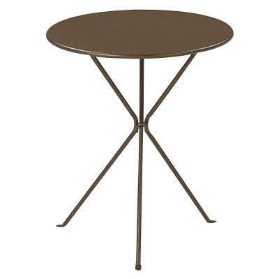 Tavolo pieghevole Gueridon, Ø 60 cm marrone