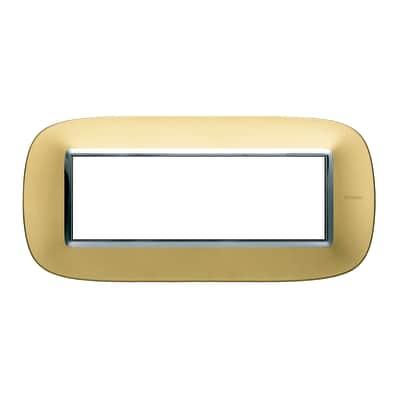 Placca 6 moduli BTicino Axolute oro satinato