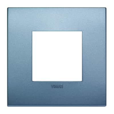Placca 2 moduli Vimar Arkè blu