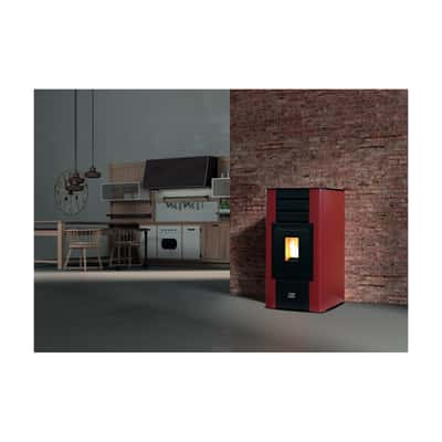 Termostufa a Pellet Betta 17 kW bordeaux