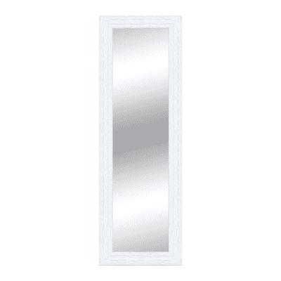 Specchio da parete rettangolare teresa bianco 68 x 168 cm for Scarpiera a specchio leroy merlin