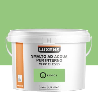Smalto Luxens all'acqua Verde Esotico 5 brillante 2.5 L
