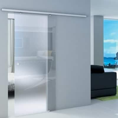 Porta da interno scorrevole Atena Neutro 86 x H 215 cm reversibile ...
