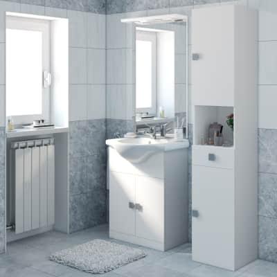 Mobile bagno Super bianco L 65 cm