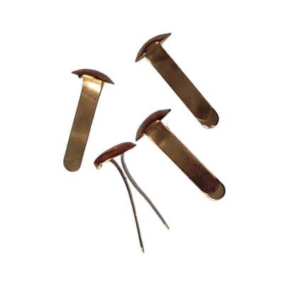 Fermacampioni in acciaio ottonato
