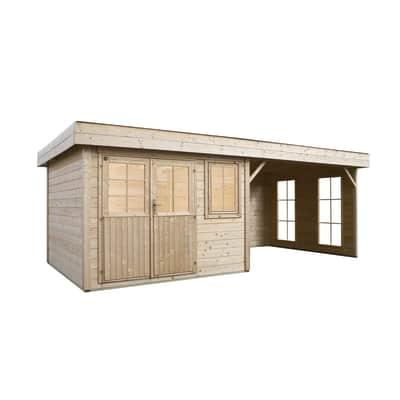 casetta in legno grezzo 4 stagioni 7,45 m², spessore 28 mm
