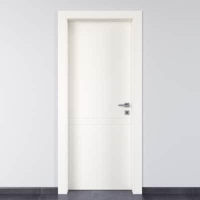 Porta da interno battente Rail bianco 90 x H 210 cm sx