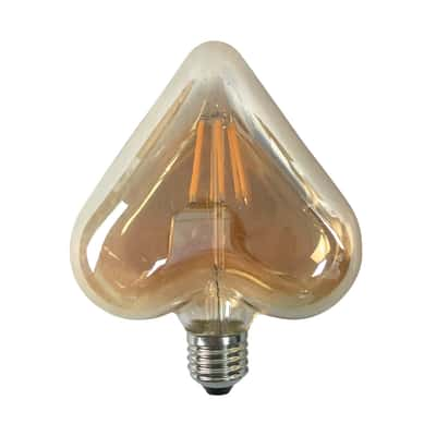 Lampadina decorativa LED Cuore E27 =40W giallo 360°
