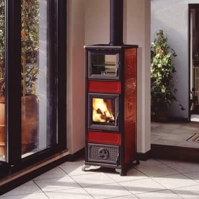 Stufa a legna con forno gloria bordeaux prezzi e offerte - Stufa a pellet con forno prezzi ...