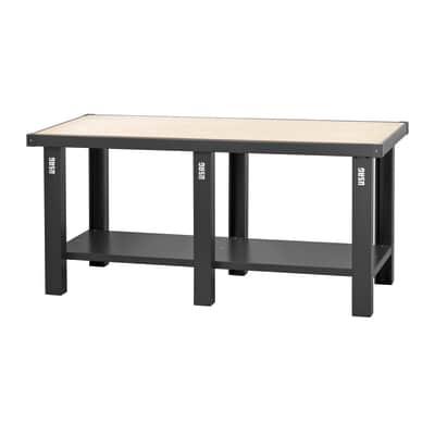 Banco da lavoro Fisso piano legno, P200 x H85 x P70 cm
