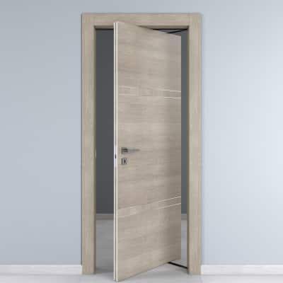 Porta da interno rototraslante Chasing rovere chiaro 80 x H 210 cm dx