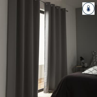 Tenda stop cold termica oscurante occhielli antracite 140 x 280 cm prezzi e offerte online - Oscurare vetro porta ...