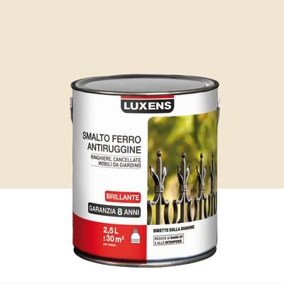 Smalto per ferro antiruggine Luxens bianco avorio brillante 2,5 L