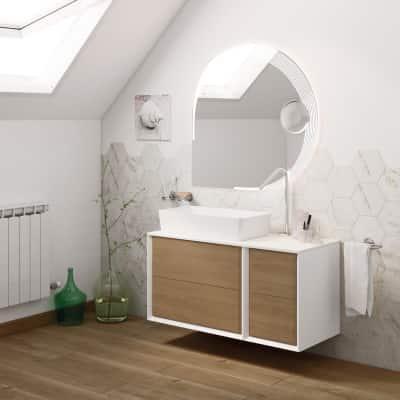 Mobile bagno Devon rovere L 195 cm