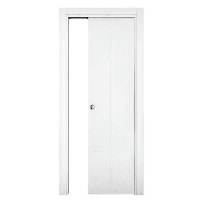 Porta da interno scorrevole Urban bianco 80 x H 210 cm reversibile