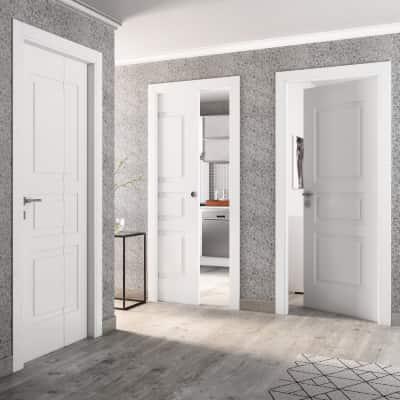 Porta da interno battente alioth bianco 80 x h 210 cm dx prezzi e offerte online leroy merlin - Porte interno leroy merlin ...