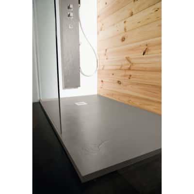 Piatto doccia resina Pizarra 150 x 90 cm cemento