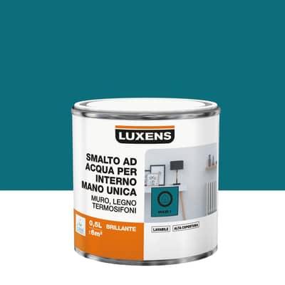 Smalto manounica Luxens all'acqua Blu Miami 1 brillante 0.5 L