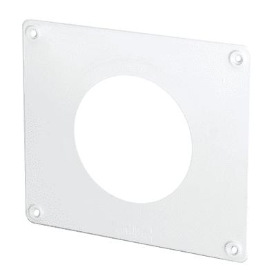 Placca finizione Copriforo per tubo tondo diametri 100 120 bianco L 16 - 19 cm