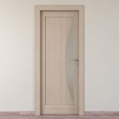 Porta da interno battente Halfmoon paglia 70 x H 210 cm sx