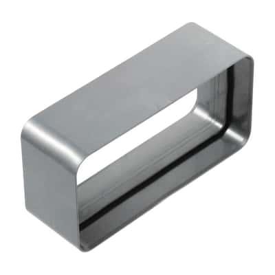 Raccordo diritto Giunto ABS per tubo rettangolare steel L 6 - 12 cm