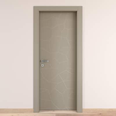 Porta da interno battente The Thing grigio 90 x H 210 cm dx