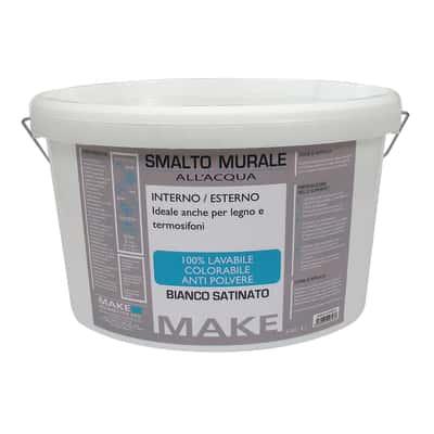 Smalto murale bianco satinato Make 5 L