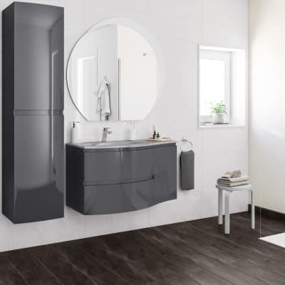 Mobile bagno Vague grigio antracite L 104 cm