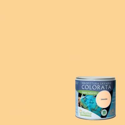 Idropittura lavabile Bio zabaione 2,5 L Nativa