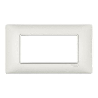 Placca 4 moduli Vimar Plana argento perlato