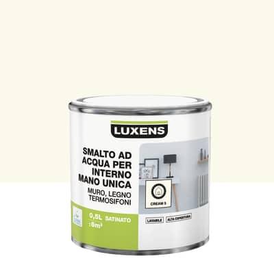 Smalto manounica Luxens all'acqua Bianco Crema 5 satinato 0.5 L