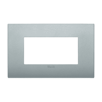 Placca 4 moduli Vimar Arké silver matt