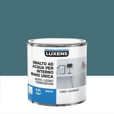 Smalto manounica Luxens all'acqua Blu Miami 1 opaco 0.5 L