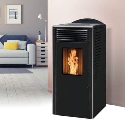 Stufa a Pellet Fusion 12.2 11,8 kW nero